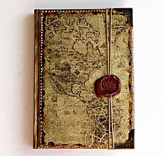 Papiernictvo - Diár cestovateľský,Travelers Diary,Luxusný manager diár 2020 1 deň/ strana - 11344303_