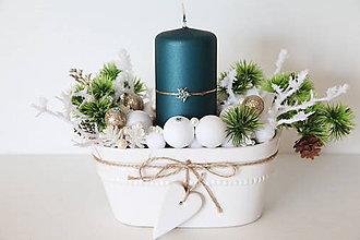 Dekorácie - Vianočný aranžmán - 11344242_