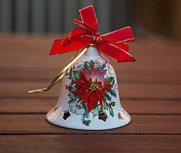 Dekorácie - Vianočné zvonce veľké (Červená) - 11345431_