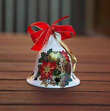 Dekorácie - Vianočné zvonce veľké (Bordová) - 11345433_