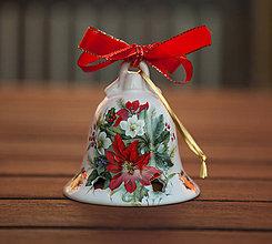 Dekorácie - Vianočné zvonce veľké (Pestrofarebná) - 11345434_