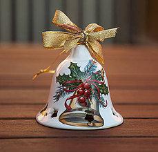 Dekorácie - Vianočné zvonce veľké (Zlatá) - 11345437_