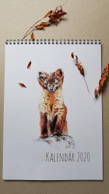 Papiernictvo - Kalendar 2020 - Zvierata z našej prírody - 11343489_