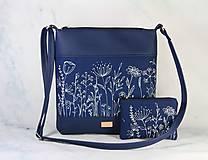 Kabelky - Modrotlačová kabelka  s taštičkou Dara XL modrá AM - 11343812_