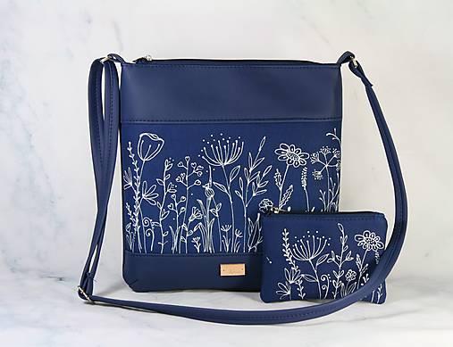 Modrotlačová kabelka  s taštičkou Dara XL modrá AM