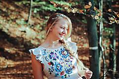 Ozdoby do vlasov - Mosadzná modrá čelenka - Devanka - 11348550_