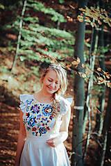 Ozdoby do vlasov - Mosadzná modrá čelenka - Devanka - 11348552_