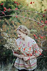 Ozdoby do vlasov - Mosadzná červená čelenka - Devanka - 11348984_