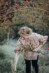 Ozdoby do vlasov - Mosadzná červená čelenka - Devanka - 11348985_