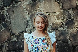 Ozdoby do vlasov - Mosadzná pastelová čelenka - Devanka - 11348353_