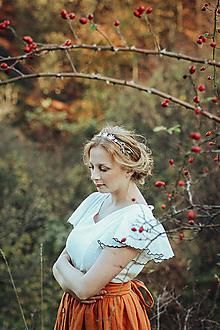 Ozdoby do vlasov - Mosadzná modrá čelenka - Devanka - 11348551_