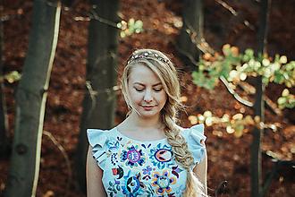 Ozdoby do vlasov - Mosadzná čelenka s rôznymi minerálmi - Devanka - 11349127_