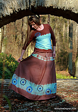 Sukňa batikovaná, maľovaná, etno ZEM
