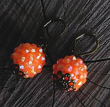 Náušnice - shamballa náušničky v bronze - 11350400_