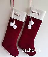 Drobnosti - Mikulášske ponožky na želanie s menom - 11351252_