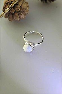 """Prstene - """"opál"""" prsteň striebro - nastaviteľný - 11351146_"""