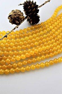 Minerály - citrínový jadeit korálky 8mm - 11351654_