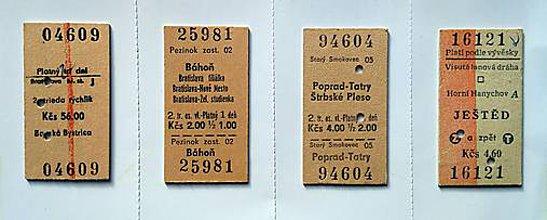 Magnetky - Vlakové lístky - magnetky 3 ks - 11349228_