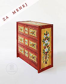 """Nábytok - Ručne maľovaná komoda """"Zemianská"""" (pôvdná cena 247 Eur) - 11351726_"""