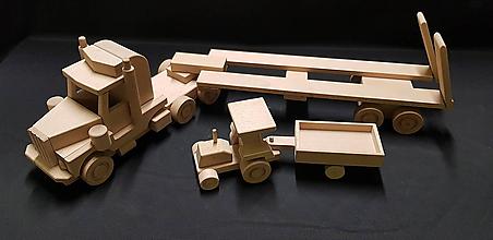 Hračky - Drevené auto hračka - 11348154_