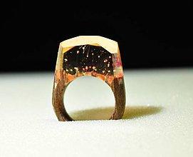 Prstene - Drevený prsteň Kappa - 11350816_