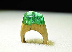 Prstene - Drevený prsteň Fosa - 11350819_