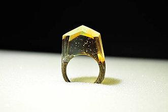 Prstene - Drevený prsteň Bimetal - 11350832_