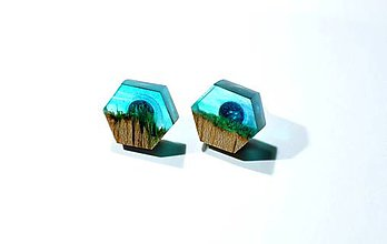 Náušnice - Drevený prsteň Frago - 11350922_