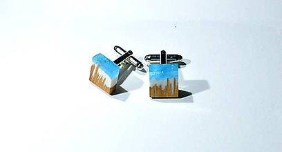 Šperky - Manžetové gombíky modré - 11351036_