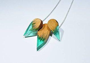 Sady šperkov - Drevený set slza - 11351083_
