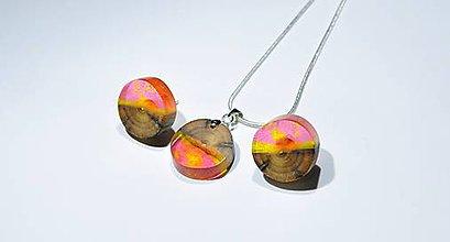 Sady šperkov - Drevený set lolipop - 11351216_