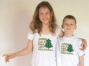 Tričká - vianočné tričká pre skoroposlušných - 11351600_