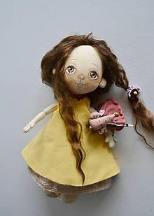 Hračky - Priateľky do kabelky. Textilná bábika - Čokolína - 11326562_