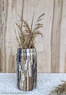 """Dekorácie - """"Strakatela veľká"""" recyklovaná váza - 11349515_"""