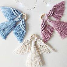 Dekorácie - Vianočná makramé ozdoba ANGEL - 11347976_
