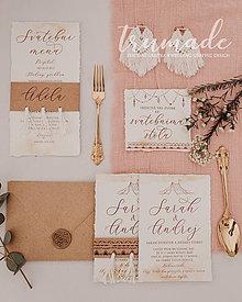 Papiernictvo - Svadobné oznámenia - Macrame - 11348469_