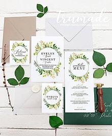 Papiernictvo - Svadobné oznámenia - Copper leaves - 11348927_