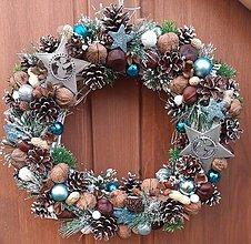 Dekorácie - Vianočný veniec... - 11351725_