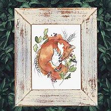 Grafika - Print z originálu ilustrácie Lišiak - 11349726_