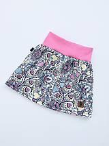 Detské oblečenie - Na slnku zmení farbu - Kúzelná sukňa vzor Prúžkované kvietky (detská veľkosť 86-122) - 11349161_