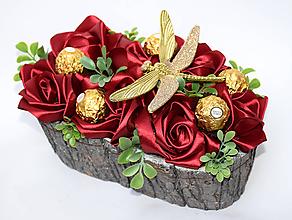Dekorácie - Saténová bonboniera - 11350598_