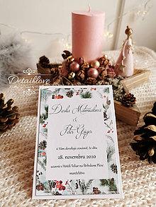 Papiernictvo - Svadobné oznámenie ZIMA - 11351213_