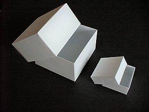 Krabičky - krabička/ štvorec/ všetky farby (Modrá) - 11349300_