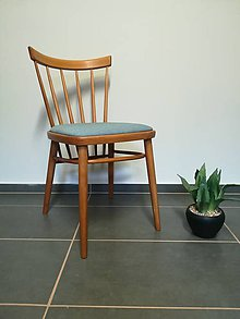 Nábytok - Mentolová retro stolička Tatra Pravenec - 11349372_