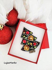 Odznaky/Brošne - Vianočná nálada brošňa - 11350610_
