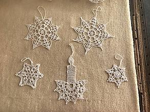Dekorácie - vianočná vločka - 11350131_
