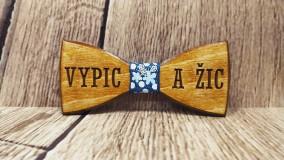Doplnky - Pánsky drevený motýlik VYPIC a ŽIC - 11348130_