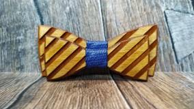 Pánsky drevený motýlik TOPAN 3D otec a syn