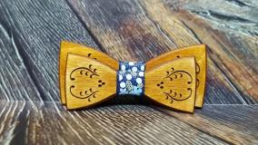Doplnky - Pánsky drevený motýlik FOLK otec a syn - 11348955_