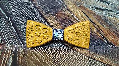 Doplnky - Pánsky drevený motýlik GAMER - 11347723_